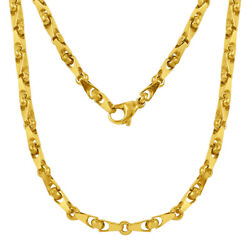 14k Yellow Gold Handmade Fashion Link Necklace 22 4.5mm 41 Grams