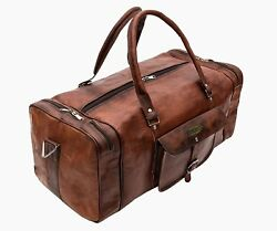 Leather Duffle Travel Bag Sport Gym Luggage Backpack Beach Tote Baggage Large