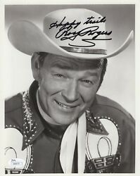 Roy Rogers Hand Signed 8x10 Vintage Photo   Incredible Pose  Very Rare  Jsa