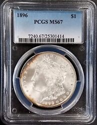 1896 Morgan Silver Dollar Certified Ms 67 By Pcgs Wow