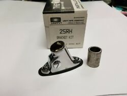Unity Spot Lamp Bracket @25rh, New In Box, Chrome Instructions And Template Incl