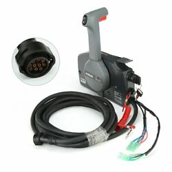 Rupse Outboard Remote Control Box Push Open+10 Pin Cable For Yamaha OEM 703-4820