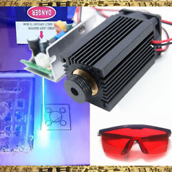 Focusable High Power 450nm 5w Blue Laser Module Ttl Carving/gift Goggles