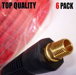 6 PACK - PAKA TOOLS  300 PSI Hybrid (PVC/Rubber) Air Hose - 3/8-Inch by 25-Feet