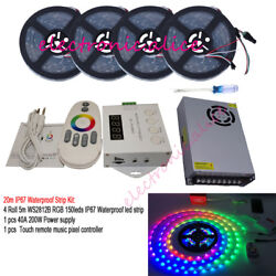 5v Ws2812b Individually Addressable Led Strip +remote Music X2 Controller+power