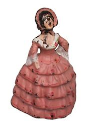 Antique Doorstop The National Foundry Small Doll also known as Hoop Skirt Girl