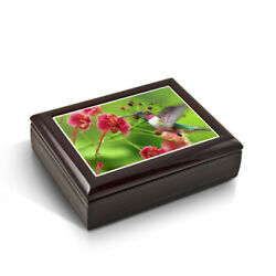 Frozen In Time Hummingbird Tile Musical Jewelry Box
