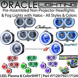 Oracle Non-projector Halo Headlights And Fog Lights For 08-14 Dodge Challenger