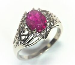 Ruby Natural Genuine Gemstone With Gold And Diamonds Ladyand039s Rfk356