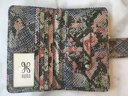 Hobo International Leather Wristlet Clutch Wallet Danette Cosmo Snake NWT New