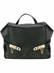 $2200 ANTHONY VACCARELLO  Designer Backpack Calf Skin Black leather AUTHENTIC