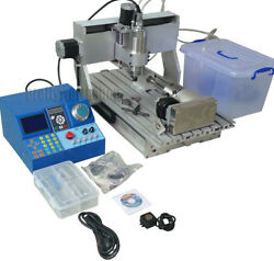 Cnc 3040 Router Milling Engraving Machine Wood Metal Carving+4th Axis 80mm Chuck