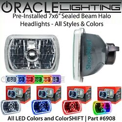 Oracle Pre-installed 7x6 Sealed Beam Led Halo Headlights - All Colors - 6908