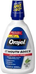 Orajel Antiseptic Mouth Sore Rinse, 16oz, 4 Pack 310310324995T476