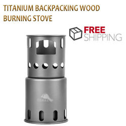 Titanium Backpacking Wood Burning Stove Small Outdoor Titanium Cooking System