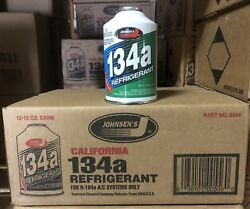 1  Case Of Johnsen's  R-134a AC Refrigerant 1212oz Can (12pc) California Can