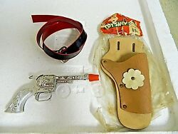 Vintage The Toy Shop Cap Gun Holster And Belt. Texas Steer Grips