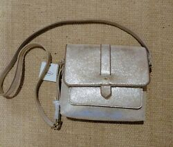 FOSSIL New with tags Kinley Small Crossbody Pale Gold Metallic Bag