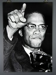 Malcolm X Black Panther Large Civil Rights Poster 27 x 39