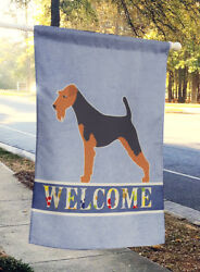 Carolines Treasures  BB5489CHF Welsh Terrier Welcome Flag Canvas House Size