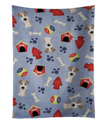 Dog House Collection Wire Haired Fox Terrier Kitchen Towel