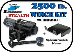 Kfi 2500lb Stealth Winch Mount Kit And03902-and03908 Yamaha Grizzly 660 4x4 Synthetic