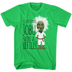Major League Yo Bartender Jobu Needs a Refill Men's T Shirt Baseball Comedy 80's