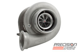 Precision Turbo Hp Cover Billet 7675 Journal Bearing T4 V-band Stainless .81 Ar