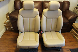 W164 Mercedes Front Passenger Driver Right Left Leather Tan Beige Seat GL-Class