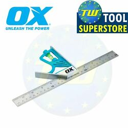 Ox Tools 12in Pro Magnetic Combination Set Square 300mm Stainless Steel Ruler