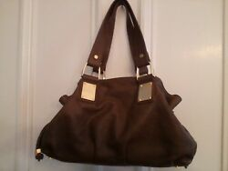 MICHAEL KORS REHEARSAL Made In Italy Brown Pebbl Leather Designer Bag MSRP $1995