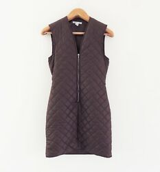 Helmut Lang 1990-91 Army Quilting Lining Look Mini Dress Archival