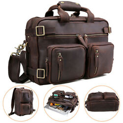 Convertible Leather Backpack 14