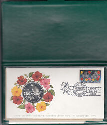 Stamp And Coin Commemorative Cover-cook Islands - 15/11/79 - Wildlife Conservation