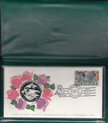 Stamp And Coin Commemorative Cover-cook Islands - 15/11/78 - Wildlife Conservation