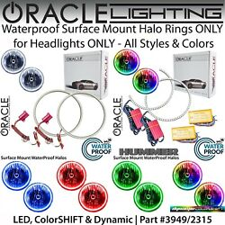 Oracle Surface Mount Halos For Headlights For 06-10 Hummer H3 And H3t All Colors