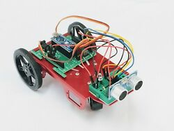 Arduino 2wd Two Wheel Drive Full Robotics Kit With Continuous Servo Motors
