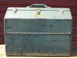 Vintage Simonsen Fishing Tackle Box And Contents 2/2 Full Lots Of Luresspoons +
