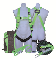 Protecta Roof Workers Kit 15m Kernmantle Rope, Harness, Anchor Strap And Bag Green