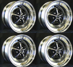 New Ford Mustang Magnum 500 Wheels 15 X 8 Set Of Complete W/ Caps Nuts