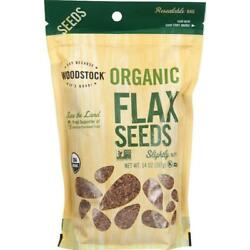 Woodstock Farms-organic Flax Seeds, Pack Of 8 14 Oz Bags