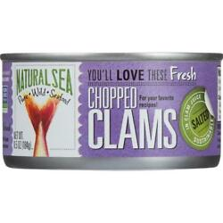 Natural Sea-chopped Clams Pack Of 12 6.5 Oz Cans