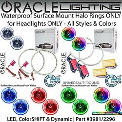 Oracle Universal Surface Mount Halo Rings For 7 Round Headlights All Colors