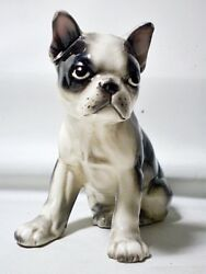 "Vintage Ceramic Boston Terrier Figurine 4"" Lefton?"