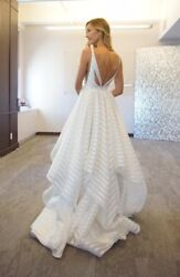 Hayley Paige Wedding Dress Decklyn Size 6,pre-owned W/ Tags, Ivory, Full Length