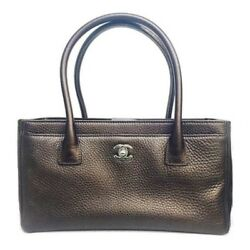 Chanel A67282 Women's Leather Tote Bag Bronze Used