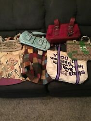(4)Coach bags (2)coach crossbody (2) lucky brand bags (1) Michael Kors bag