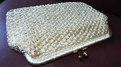 ARTEL Montreal Macrame clutch kisslock SALE made in italy knit natural CHURCH