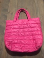 Old Navy Bright Pink Beach Puff Tote Bag One Size