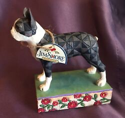 JIM SHORE BOSTON TERRIER FIGURINE 2006 RETIRED WITH TAG